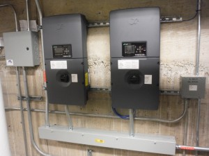 The system uses two made-in-Washington inverters.