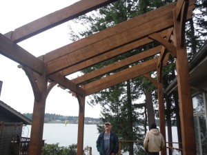 The homeowner was involved in every decision about the construction of the pre-designed and engineered pergola.