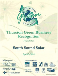 South Sound Solar is a Thurston Green Business
